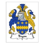 Tryon Family Crest Small Poster