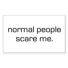 Normal People Scare Me Rectangle Decal