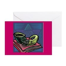 Shofar Jewish New Year Greeting Cards (Pk of 20)