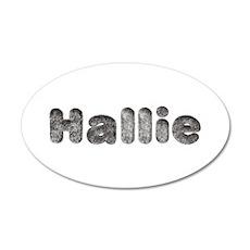 Hallie Wolf 35x21 Oval Wall Decal