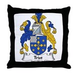 Trist Family Crest Throw Pillow