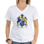 Trist Family Crest Women's V-Neck T-Shirt