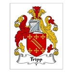 Tripp Family Crest Small Poster