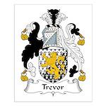 Trevor Family Crest Small Poster