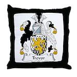 Trevor Family Crest Throw Pillow