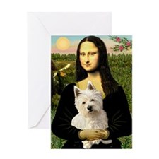 Mona Lisa & West Hightland Greeting Card