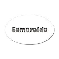 Esmeralda Wolf 20x12 Oval Wall Decal