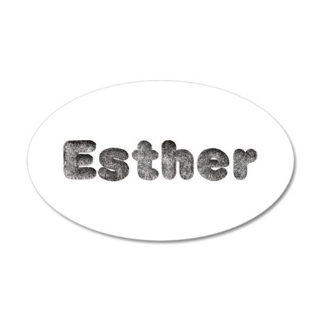 Esther Wolf 35x21 Oval Wall Decal