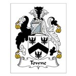 Towne Family Crest Small Poster