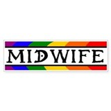 Rainbow Midwife Bumper Car Sticker