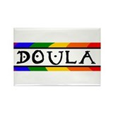 Doula Rainbow Rectangle Magnet (100 pack)