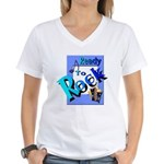 Ready To Rock Women's V-Neck T-Shirt