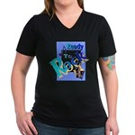 Ready To Rock Women's V-Neck Dark T-Shirt