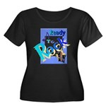 Ready To Rock Women's Plus Size Scoop Neck Dark T-