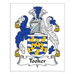 Tooker Family Crest Small Poster