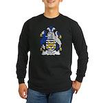 Tooker Family Crest Long Sleeve Dark T-Shirt