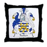 Tooker Family Crest Throw Pillow