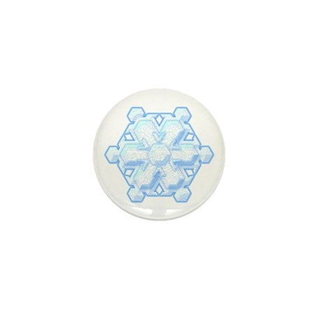 Flurry Snowflake VIII Mini Button (100 pack)