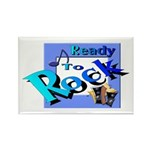 Ready To Rock Rectangle Magnet