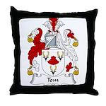 Tom Family Crest Throw Pillow