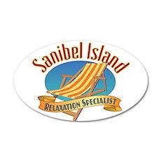 Sanibel Island Relax - 35x21 Oval Wall Decal