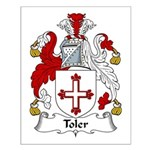 Toler Family Crest Small Poster
