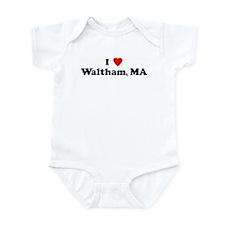 I Love Waltham, MA Infant Bodysuit