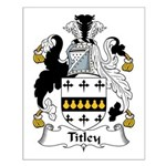 Titley Family Crest Small Poster