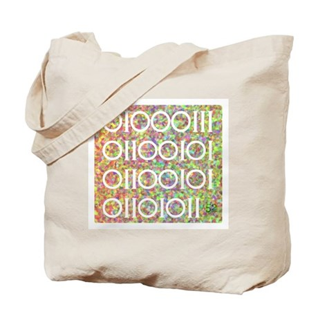 Geek in Binary Code Tote Bag