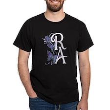 Purple Butterflies - White RA T-Shirt