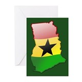 """Ghana Bubble Map"" Greeting Cards (Pk of 20)"
