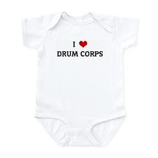 I Love DRUM CORPS Infant Bodysuit