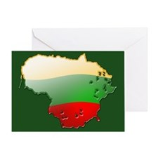 """Lithuania Bubble Map"" Greeting Card"