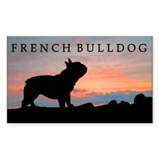 French Bulldog Sunset Rectangle Decal