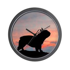 French Bulldog Sunset Wall Clock