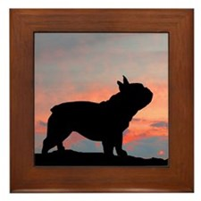 French Bulldog Sunset Framed Tile