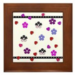 Hearts and Flowers Framed Tile