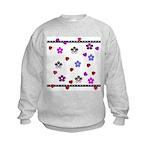 Hearts and Flowers Kids Sweatshirt