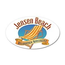 Jensen Beach - 20x12 Oval Wall Decal