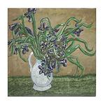 Louisiana Irises in a Pitcher Tile Coaster