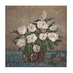 Louisiana Magnolias in Crock Art Tile Coaster