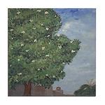 Louisiana Magnolia Tree Art Tile Coaster