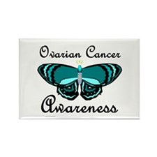 Teal Butterfly 2 (OC) Rectangle Magnet (10 pack)