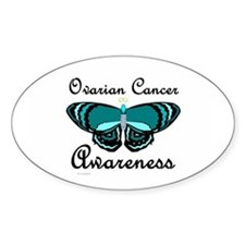 Teal Butterfly 2 (OC) Oval Decal