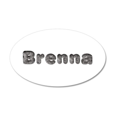 Brenna Wolf 20x12 Oval Wall Decal
