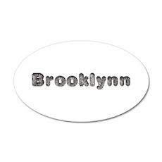 Brooklynn Wolf 35x21 Oval Wall Decal