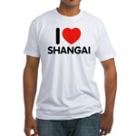 I Love Shangai Fitted T-Shirt