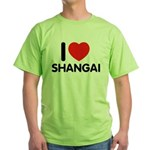 I Love Shangai Green T-Shirt