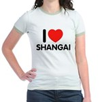 I Love Shangai Jr. Ringer T-Shirt