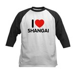 I Love Shangai Kids Baseball Jersey